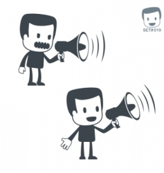 announcement icon man vector image vector image