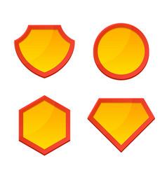 blank superhero logo template set vector image vector image