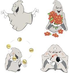 Ghosts clip art cartoon vector