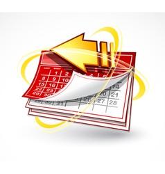 paper calendar with arrow vector image