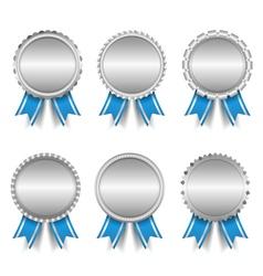 Silver Medals vector image vector image