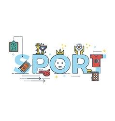 Sport word vector image vector image