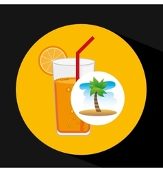 Tropical vacation beach cocktail bar vector
