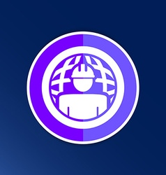 Workman global search icon button logo symbol vector