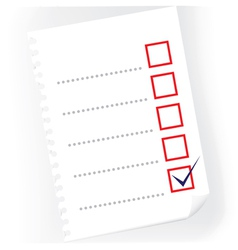 checkbox notepad paper vector image