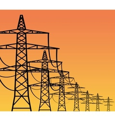 Electricity pylons vector