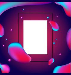 trendy fluid shape bright gradient colors fluid vector image