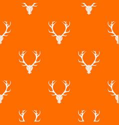 deer antler pattern seamless vector image
