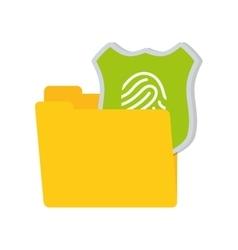 folder data shiled protection system technology vector image