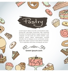 Hand drawn pastry Bakery products vector image vector image
