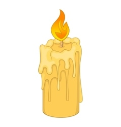 Melting candle icon cartoon style vector image vector image