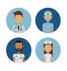 professional medical people design vector image