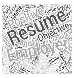 Quick Resume Writing Tips Evaluating Your Resume vector image vector image