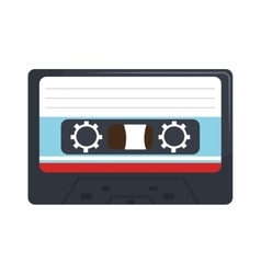 Stereo cassette isolated flat icon vector image
