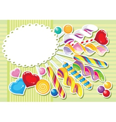 sweets sticker background vector image vector image
