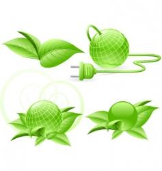 world green energy vector image