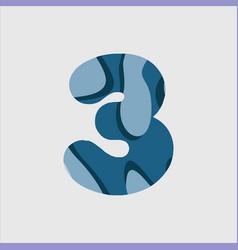 3 water font template design vector