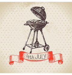 4th july vintage background vector image