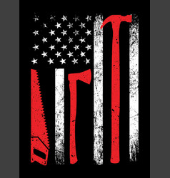 american carpenter t-shirt design vector image