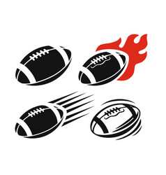 american football rugby ball game sport vector image