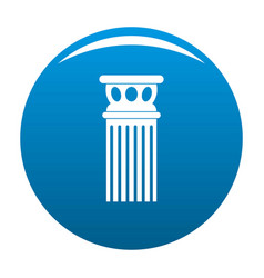 Ancient column icon blue vector