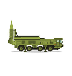 anti-aircraft missile system rockets and shells vector image