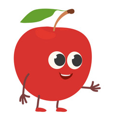 apple icon cartoon style vector image