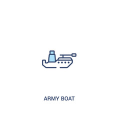 army boat concept 2 colored icon simple line vector image