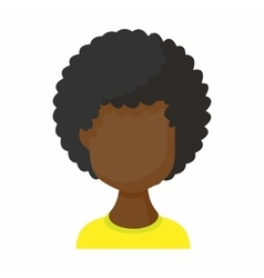 Avatar black woman icon cartoon style vector image