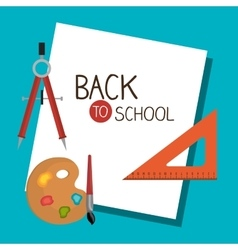 back to school set graphic isolated vector image