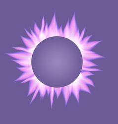 Banner with realistic ultra violet flames vector