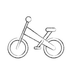bicycle mountain isolated icon vector image