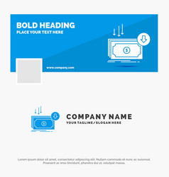 blue business logo template for business cost cut vector image