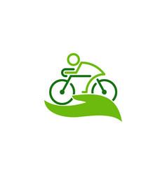 Care bike logo icon design vector
