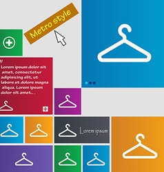 clothes hanger icon sign buttons Modern interface vector image
