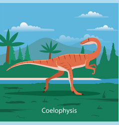 Coelophysis prehistoric animal vector