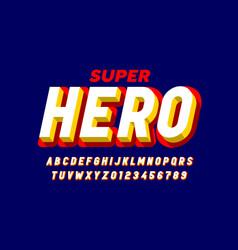 comics superhero style font alphabet letters vector image