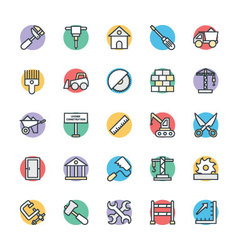 Construction cool icons 1 vector