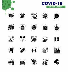 coronavirus prevention 25 icon set blue influenza vector image
