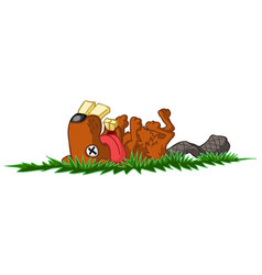 Dead beaver vector