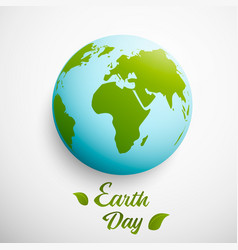 earth day with planet and vector image