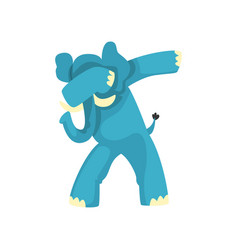 Elephant standing in dub dancing pose cute vector