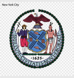 emblem new york vector image
