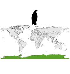 Emperor penguin range vector