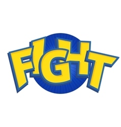 Fight phrases written in a cartoon game vector image