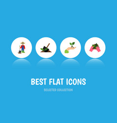 Flat icon sow set of soil care plant and other vector