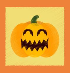 Flat shading style icon halloween pumpkin vector