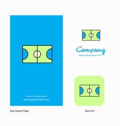 football ground company logo app icon and splash vector image