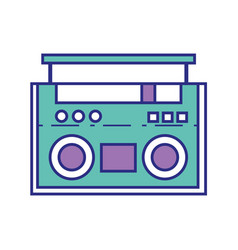 full color adio object technology to listen music vector image