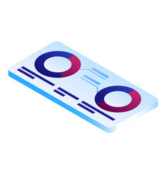 futuristic info tablet icon isometric style vector image